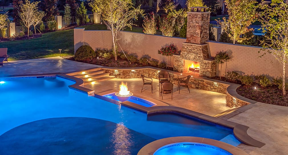 Nashville custom pool design outdoor kitchens pool for Custom indoor pools
