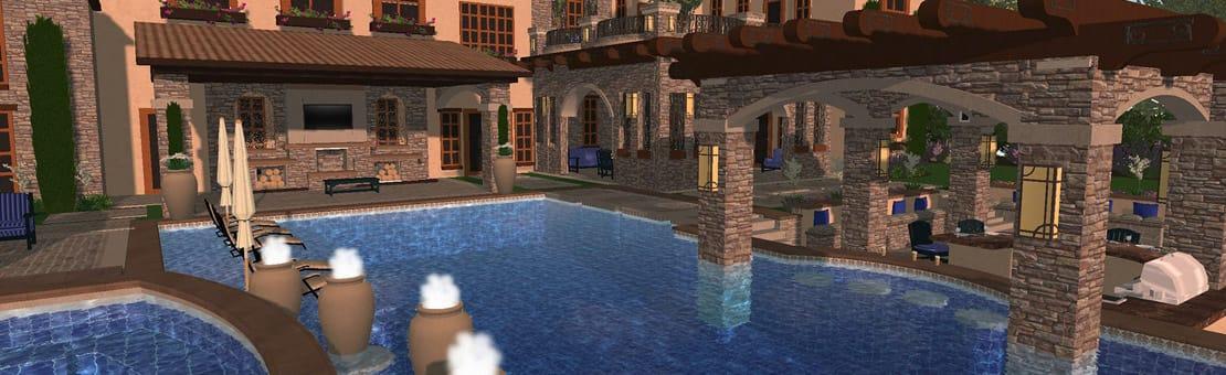 Custom Pools By Design large rocks in waterfalls planting ideas mahwah nj lighting waterfalls and pool 3d Renderings For Custom Pool Design