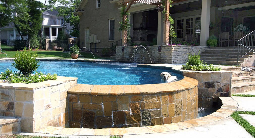 Nashville custom pool design outdoor kitchens pool for Pool design nashville