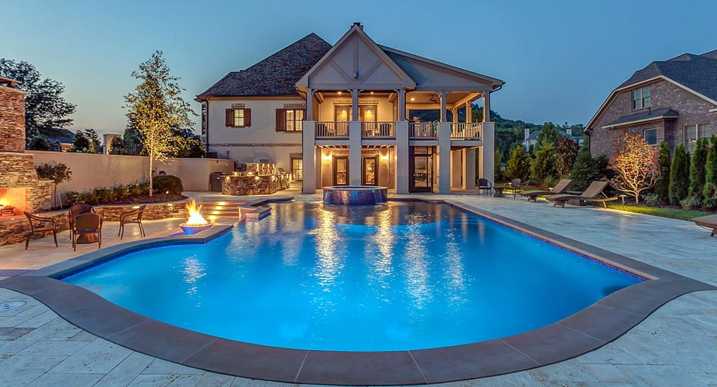Custom pool gallery freeform pools and spas by peek pools and spas nashville tennessee for Swimming pool builders nashville tn