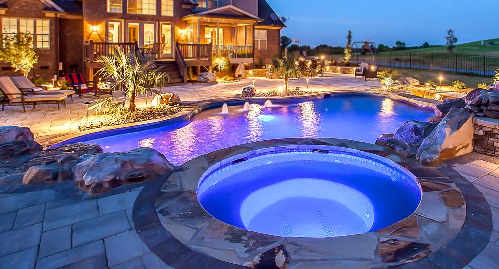 Nashville Custom Pool Design Outdoor Kitchens Pool Kings 39 Peek Pools And Spas Nashville Tn