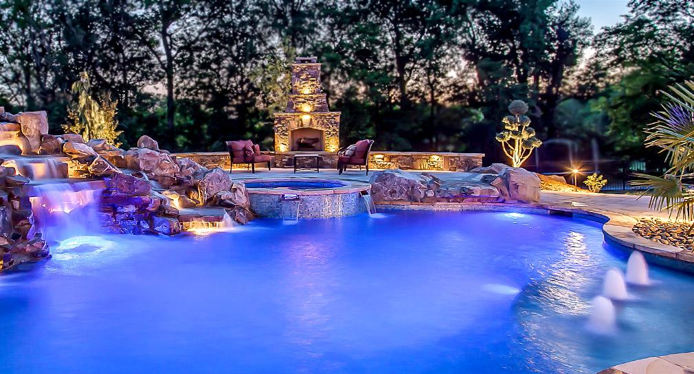Nashville custom pool design outdoor kitchens pool for Custom pools