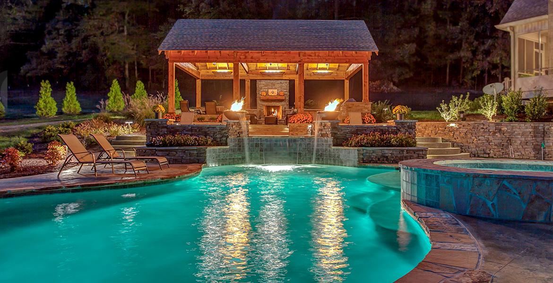 Nashville custom pool design outdoor kitchens pool for Pool kings design